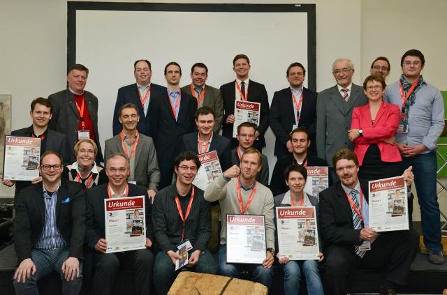 Die Preisträger des Businessplan-Wettbewerbs Netzwerk Nordbayern